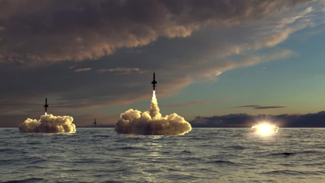 rockets take off from underwater - битва стоковые видео и кадры b-roll
