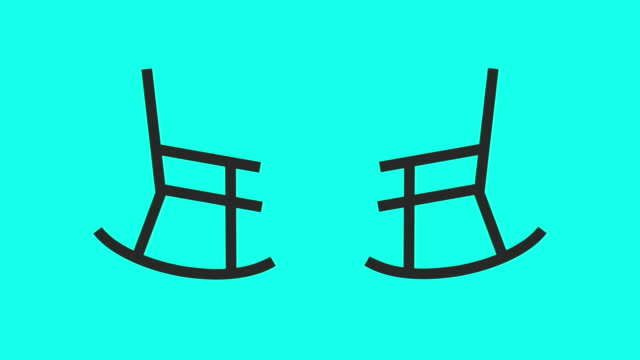 Rocking Chair - Vector Animate Rocking Chair Vector Animate 4K on Green Screen. rocking chair stock videos & royalty-free footage