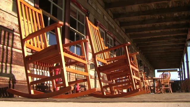 Rocking chairs in the wind video