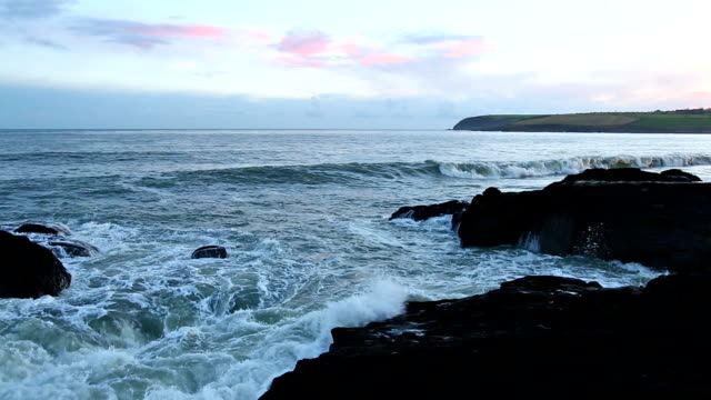 HD: Rocks at coast, Cork, Ireland video