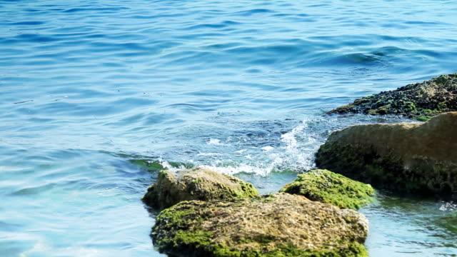 Rocks at the sea coast - loopable video