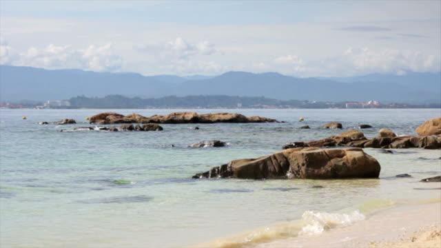Rocks on a Beach in Borneo video