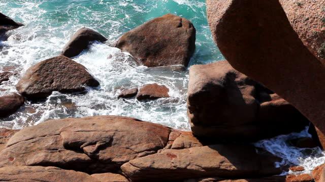rocks on the seashore video