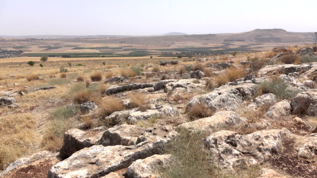 Rocky and Dry Landscape on Top of Mountain in Israel video