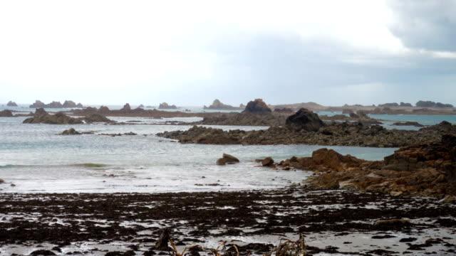 Rocky Atlantic ocean coast video