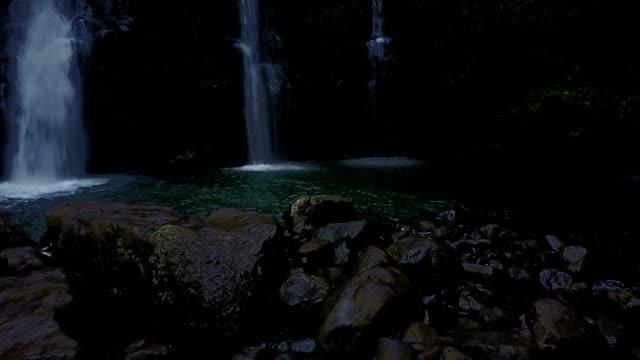 Rocky Circle Surrounding Pools and Waterfalls on Maui Island