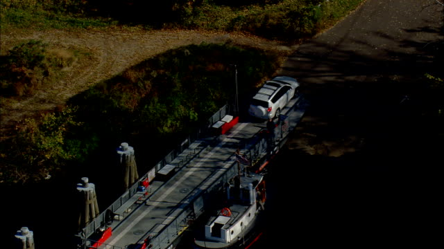 Rocky Hill Glastonbury Ferry  - Aerial View - Connecticut,  Middlesex County,  United States video