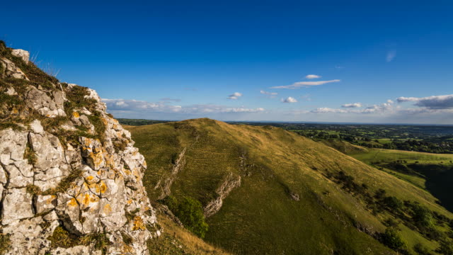 Rocky hillside view of the Peak District, Dovedale video