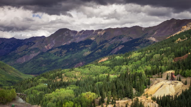 Rocky Mountain Scene with Disused Mine - Time Lapse