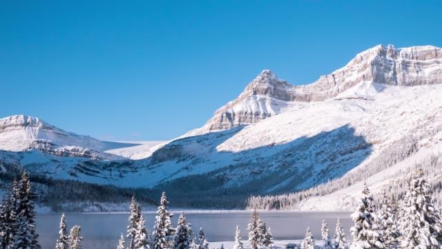 stockvideo's en b-roll-footage met rocky mountain viewside icefields parkway - sneeuwkap