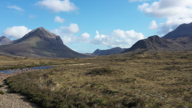 Rocky mountains of Cuillin in the Isle of Skye in Scotland, UK video