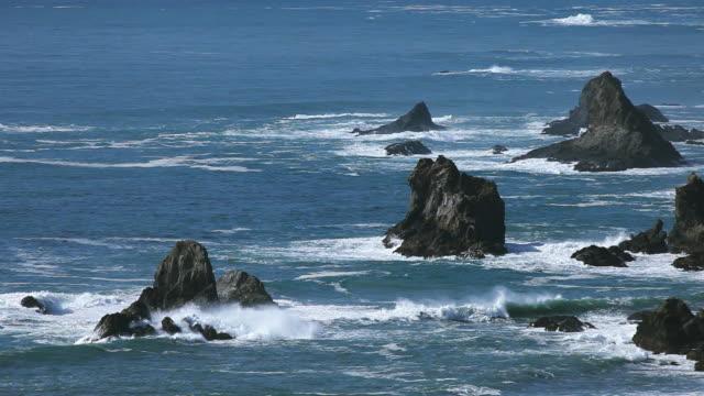 rocky ocean coastline video