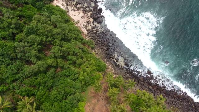 kayalık sahil - dron bakış açısı - okyanus gemisi stok videoları ve detay görüntü çekimi