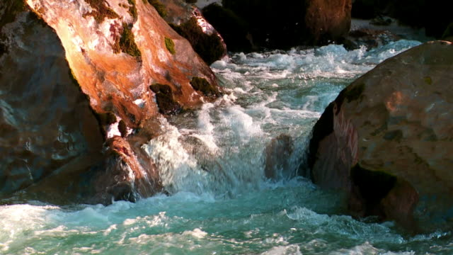 HD Rocky Stream (Loopable) Real time shot of a rocky high mountain river (loopable). wasser videos stock videos & royalty-free footage
