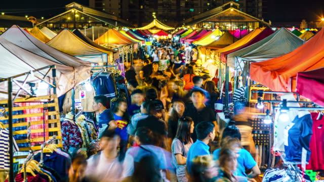 Rod Fai Night market time lapse video