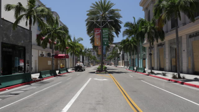 Rodeo Drive Empty after protests
