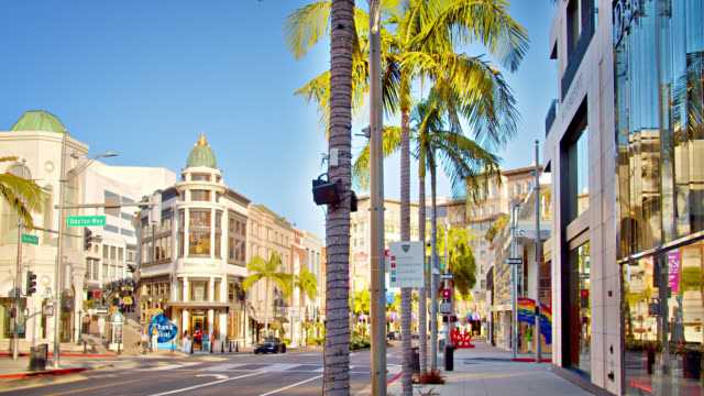 Rodeo Drive. Los Angeles. Shopping Street.