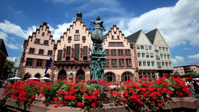 Roemberberg Square in Frankfurt Main, Germany video
