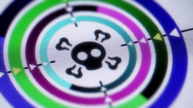 Roger Roger icon on a screen. Looping. antivirus software stock videos & royalty-free footage