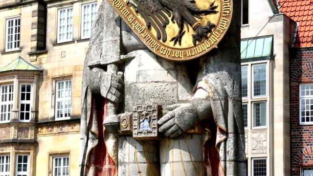 Roland Statue in Bremen, Germany video