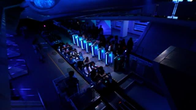 Roller Coaster at amusement park video