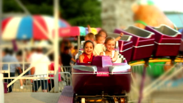 roller coaster kids - roller coaster stock videos & royalty-free footage