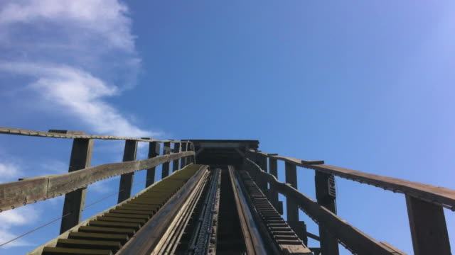 pov roller coaster - roller coaster stock videos & royalty-free footage