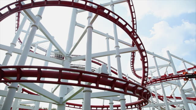 roller coaster - roller coaster stock videos & royalty-free footage