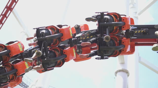 roller coaster,slow motion - roller coaster stock videos & royalty-free footage