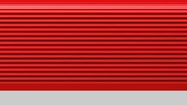 roller tür geöffnet - garage stock-videos und b-roll-filmmaterial