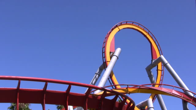 rollercoaster in hd - roller coaster stock videos & royalty-free footage