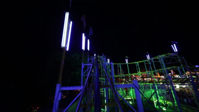 rollercoaster ride part 1/3 - roller coaster stock videos & royalty-free footage