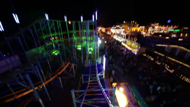 rollercoaster ride part 2/3 - roller coaster stock videos & royalty-free footage