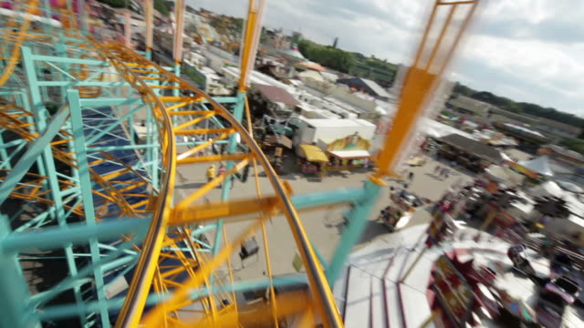 Rollercoaster ride (Part 2/3) Selected Takes - Shot on Canon 5D Mark II angle stock videos & royalty-free footage