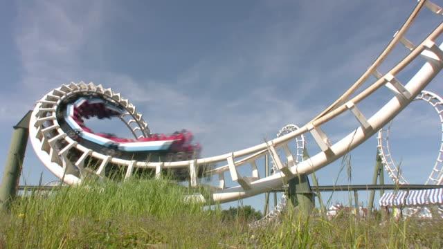 Rollercoaster rollover HD video
