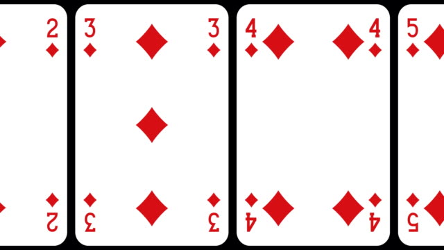Rolling Cards Rolling Cards animation playing card stock videos & royalty-free footage