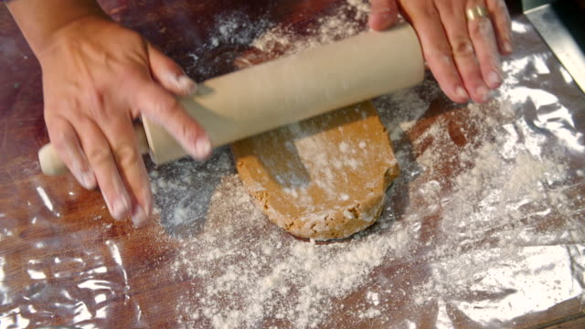 Rolling Gingerbread Dough for Christmas Cookies video