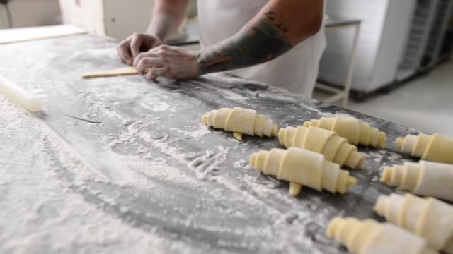 Rolling perfect croissant is an art