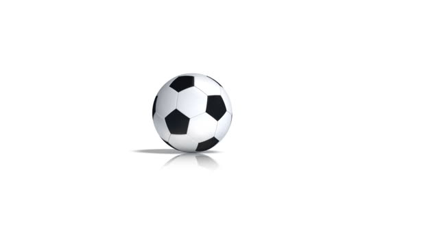 rolling pallone da calcio - rotolare video stock e b–roll