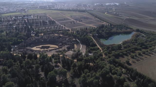 Roman amphitheater and its surroundings.