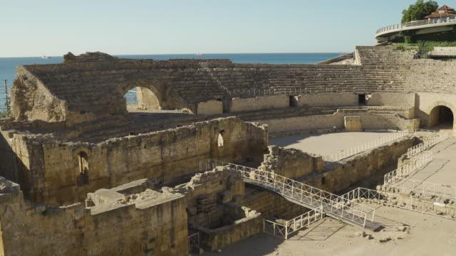 Roman amphitheatre in Tarragona, Costa Dorada, Catalonia, Spain
