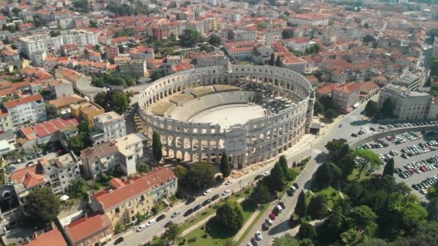 vidéos et rushes de roman arena - amphithéâtre romain - rome