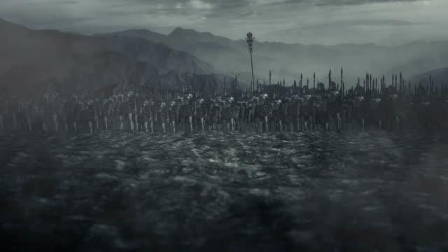 Roman Army Standing in a Battlefield