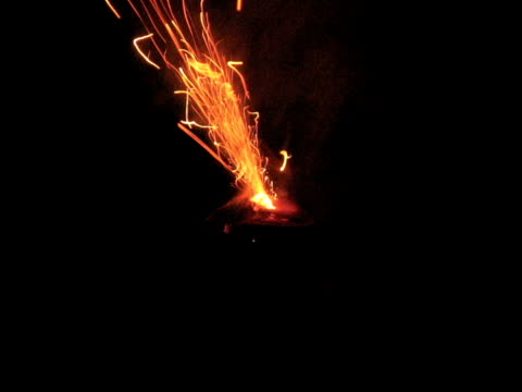 Roman Candle A Roman Candle Firework lit and spent. firework explosive material stock videos & royalty-free footage