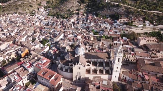 i̇spanya'nın xativa kentinde ki roma katolik bazilikası - gazlı bez stok videoları ve detay görüntü çekimi
