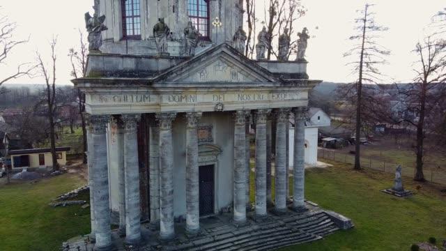 romersk-katolska kyrkan flyg, ukraina - stenhus bildbanksvideor och videomaterial från bakom kulisserna