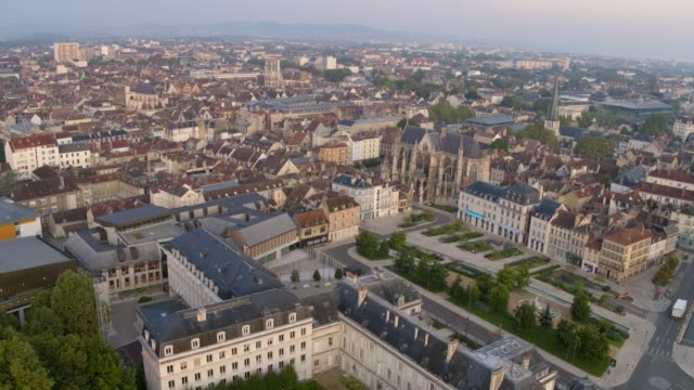 Roman Catholic Troyes Cathedral Formally Order of Knights Templar. Drone Video Troyes France