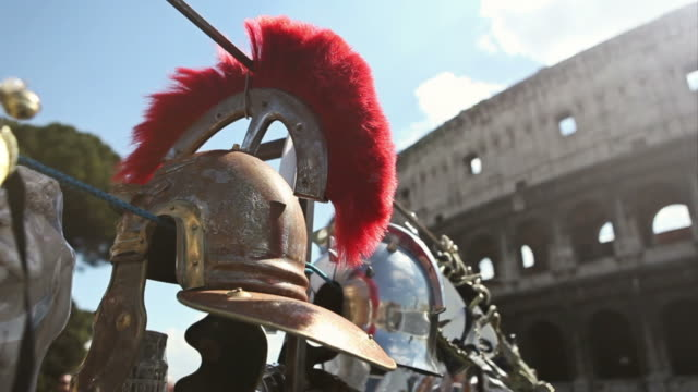 Roman Centurion Soldier Helmets and the Coliseum video