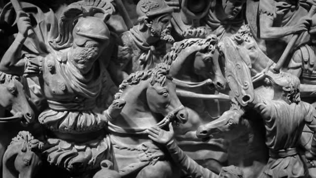 Roman empire battle bas relief video