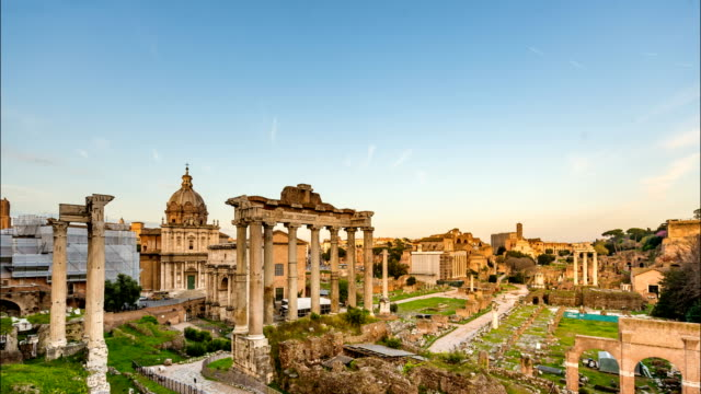 Roman Forum, Day to Night Time Lapse video